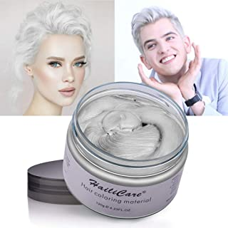 HailiCare White Hair Wax 4.23 oz, Professional Hair Pomades, Natural White Matte Hairstyle Max for Men Women (White)