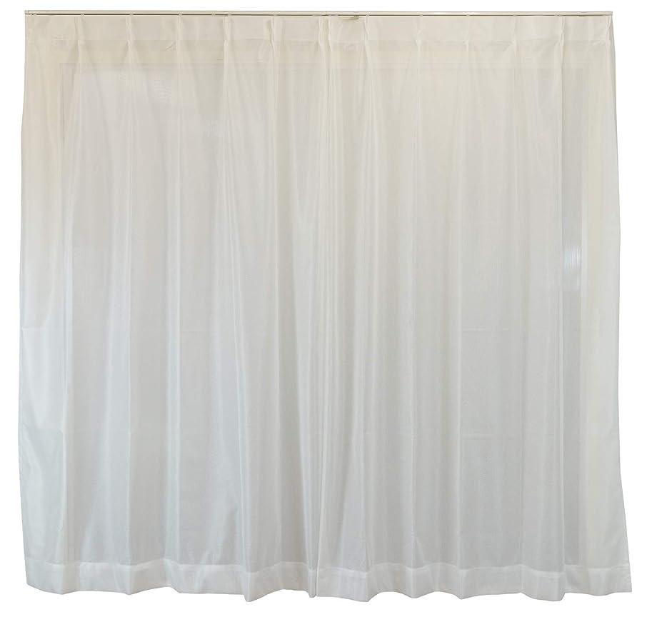 委任汚物想定するスミノエ(Suminoe) レースカーテン ホワイト 幅285cm ×丈93cm ソルベ アレルブロック オーダーレース V1132