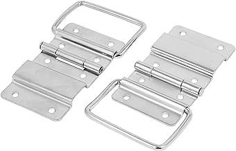 sourcingmap/® Bisagra De Empalme Caja De Herramientas Caja Maleta Culata De Metal Color Plata Soporte 44Mmx30Mm 2Pcs