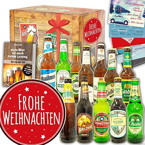 Frohe Weihnachten / Biere der Welt und DE / Geschenkeset Weihnachten für Frau