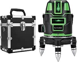 5ライン グリーンレーザー墨出し器 5線6点 回転レーザー線4方向大矩照射モデル【標準セット】