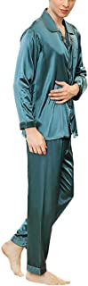 Men's Men's Pajamas Tops and Pants Sets Silky Comfortable Sizes Sleep Shirts Solid Color Leisure Homewear Negligee Two Pie...