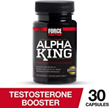 Force Factor Alpha King Testosterone Booster, Increase Passion and Drive, Build Lean Muscle, and Improve Performance - 30 Count