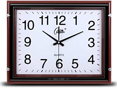 Der Living Room Creative Clock,Modern Wood Wall Clock,European Silent Twoided Clock Wall