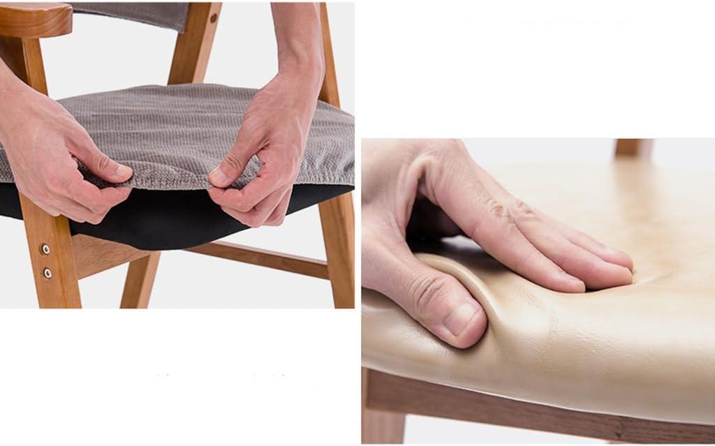 WDX- Moderne minimaliste en bois massif à manger chaise étude chaise dossier chaise longue mode (Color : C) C