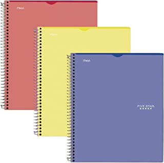 """Five Star Interactive Notetaking, 1 Subject, College Ruled Spiral Notebooks, 100 Sheets, 11"""" x 8-1/2"""", Customizable, 3 Pac..."""