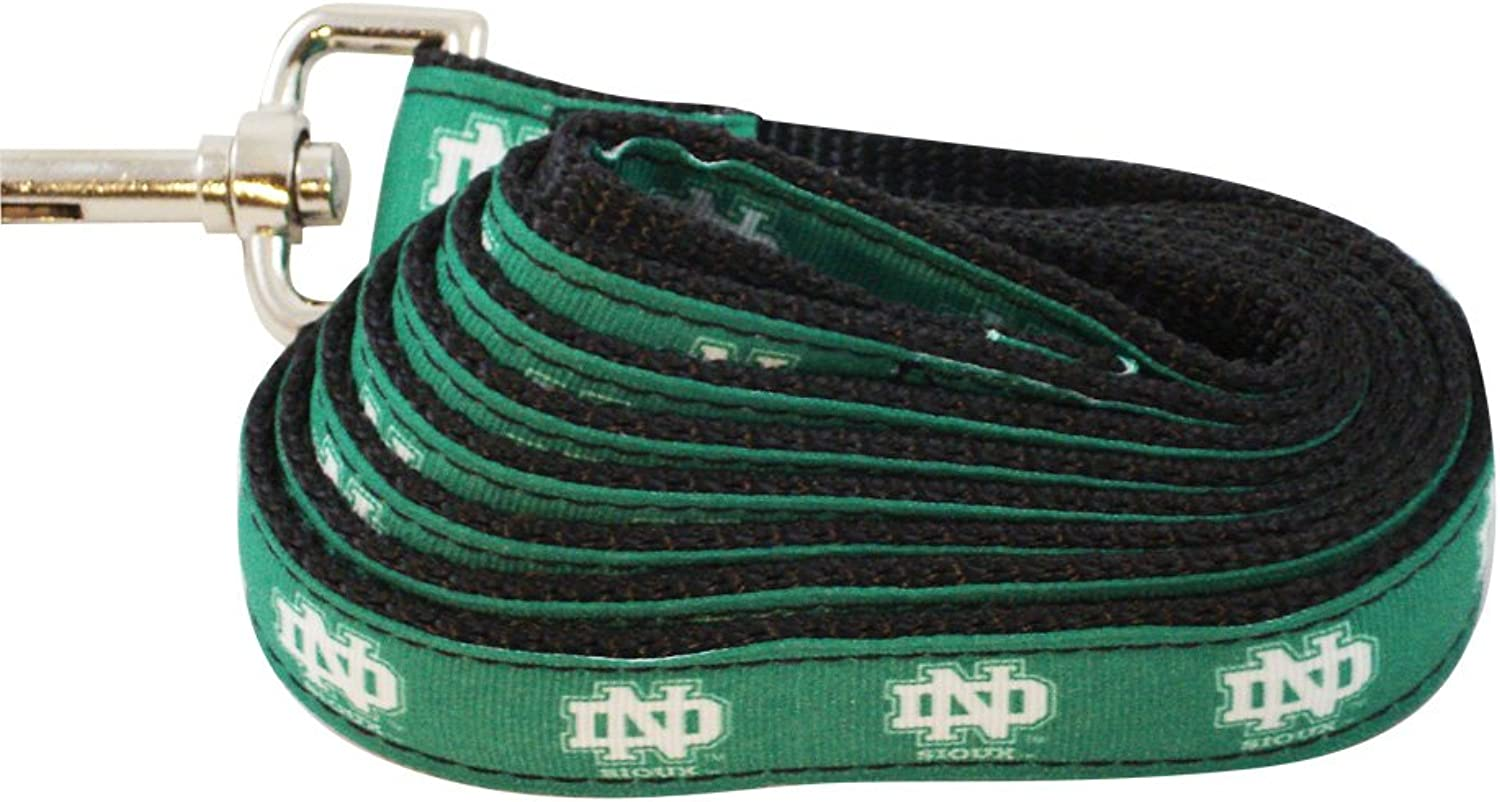 All Star Dogs North Dakota Fighting Sioux Dog Leash (Team color, Small)