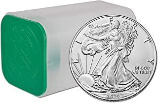 2019 American Eagle 1oz Silver Bullion Roll, Tube, Lot of 20 Coins BU