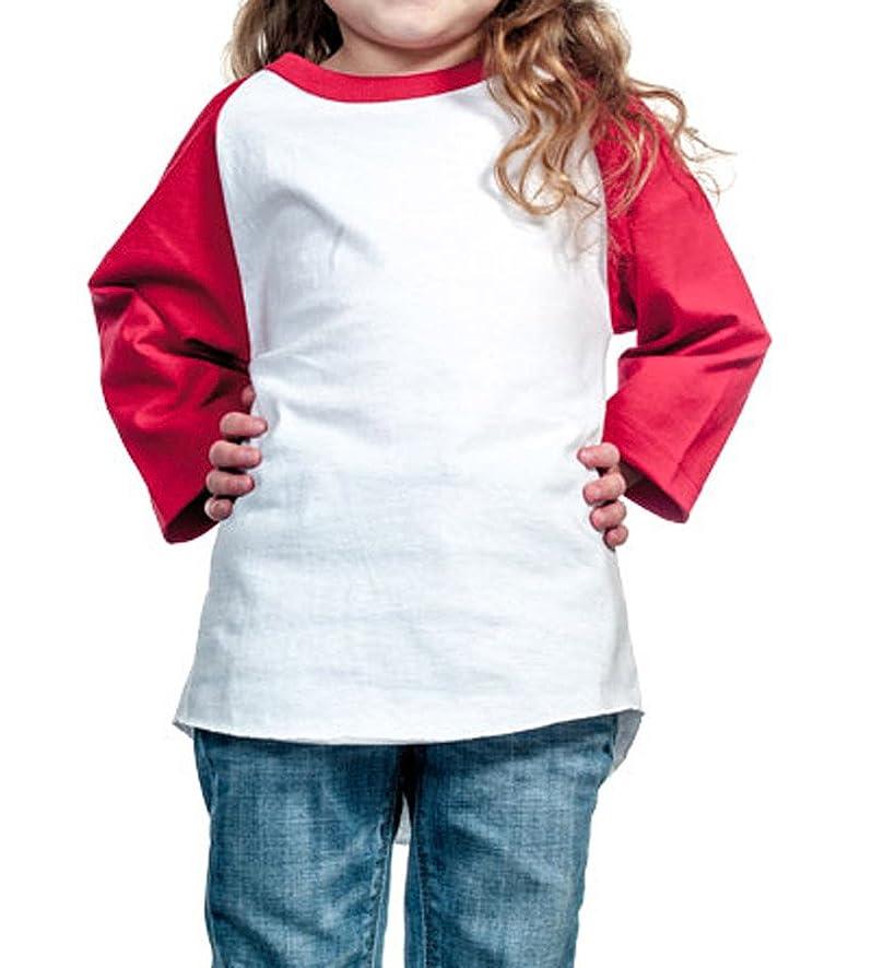 Unisex Kids Raglan 3/4 Sleeve Baseball T Shirt Top