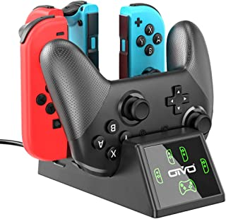 Switch Charger Dock Station for Nintendo Switch Joycon&Pro Controller, OIVO Upgraded 5-in-1 Switch Remote Controller Charger for Nintendo Switch - 2.8FT Type C Cable Included