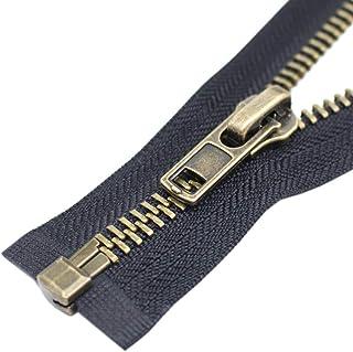 Jaqueta de metal YaHoGa #8 Anitique com zíper e zíper em metal Y-Teeth com zíper resistente para jaquetas e casacos de cos...