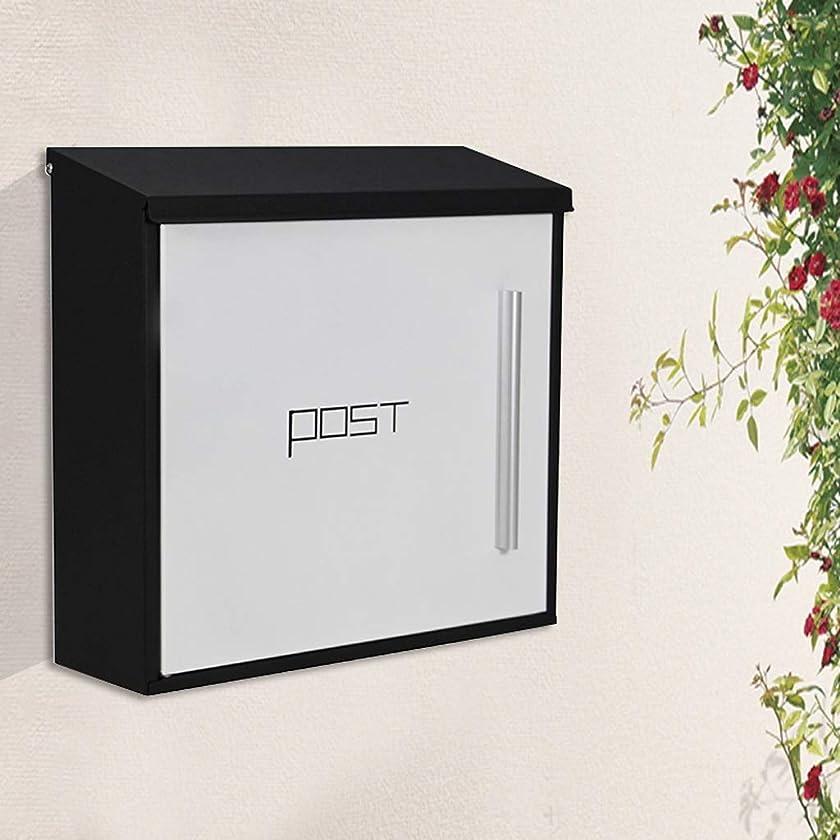 アライメント性能症状HZBc メールボックスメールボックス、洋風ヴィラルーム、壁掛け壁、防雨ボックス、メールボックス、壁掛け装飾、ホワイト