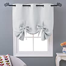 NICETOWN Balloon Bathroom Window Curtains - Blackout Window Treatment Decorative Curtains Thermal Insulated Tie Up Blind f...