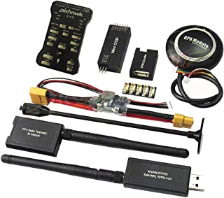 Hobbypower Pixhawk PX4 Flight Controller W/ Shock Absorber +M8N GPS 433Mhz Radio Wireless Telemetry OSD Moodule PPM Module I2C Splitter Expand Module Power Module for FPV Multirotor Quadcopter