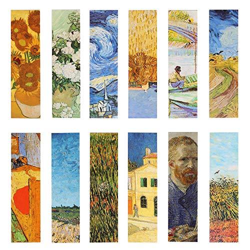 Van Gogh, segnalibri per pittura a olio, per donne, uomini, bambini, ragazze, 30 pezzi