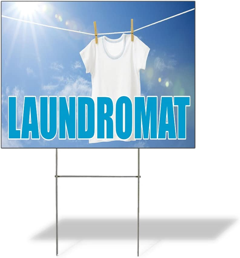 Fastasticdeals Weatherproof 2021 autumn and winter new Yard Sign Adverti Outdoor Laundromat Al sold out.
