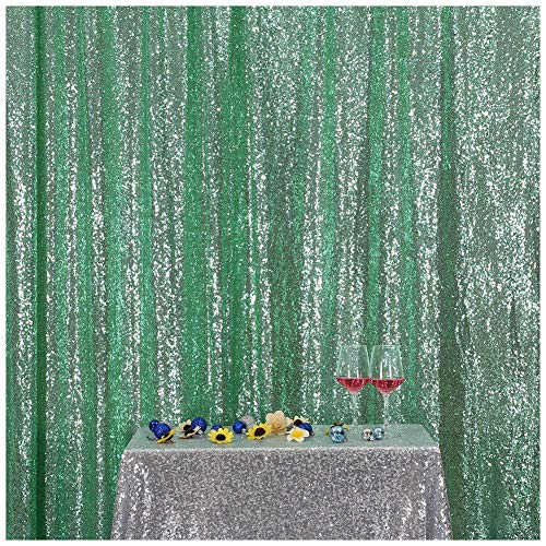 3e Home 4FT x 7FT Sequin Photography Backdrop Curtain for Party Decoration, Mint Green