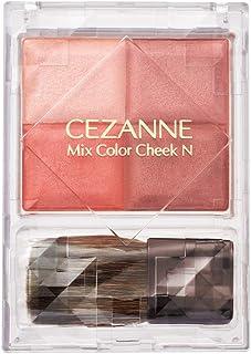 セザンヌ ミックスカラーチークN01 ウォームローズ 7.1g パウダーチーク しっとり 4色グラデーション ブラシ付き