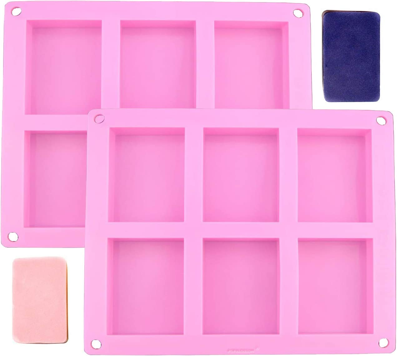 2-Pack Silicone Soap Molds Homemade Old Craft All stores are Wholesale sold M Bar Fashion