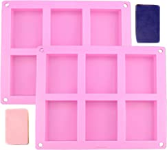 2-Pack Silicone Soap Molds Homemade Craft Old Fashion Soap Bar Mold Silicone Molds for Cake Baking Tart Pudding Cookie Making, Rectangle Shape