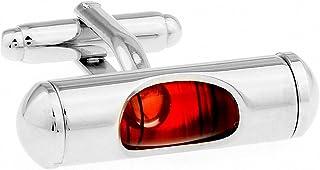 MFYS Jewelry 水準器 (赤)レベル カフス(カフスボタン?カフリンクス) 【専用収納ケース付き】