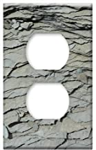 Switch Plate Outlet Cover - Mountains Slate Grey Slate Structure