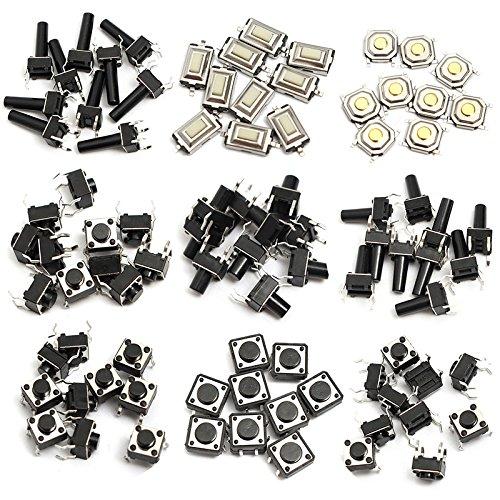 140 pcs 10 Tipos Interruptores de Tacto de Momentánea Botón Táctil Micro SMD SMT