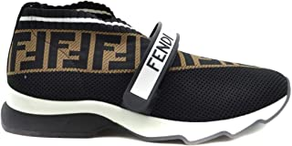 FENDI Luxury Fashion Womens MCBI39231 Black Slip On Sneakers | Season Outlet