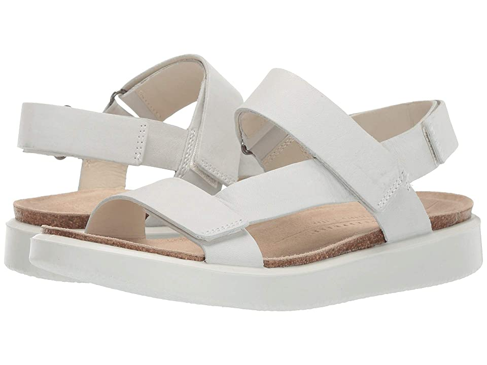 UPC 809704946542 product image for ECCO Corksphere Strap Sandal (White Cow Leather) Women's Sandals | upcitemdb.com
