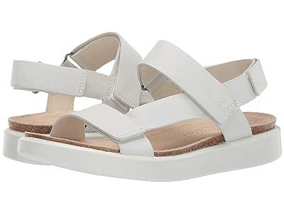 ECCO Corksphere Strap Sandal (White Cow Leather) Women