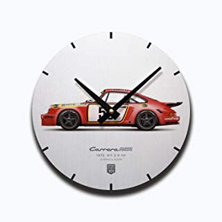 GarageProject101 1975 Classic 911 Carrera 3.0 RSR (Le Mans 24 Hours) Illustration Wall Clock
