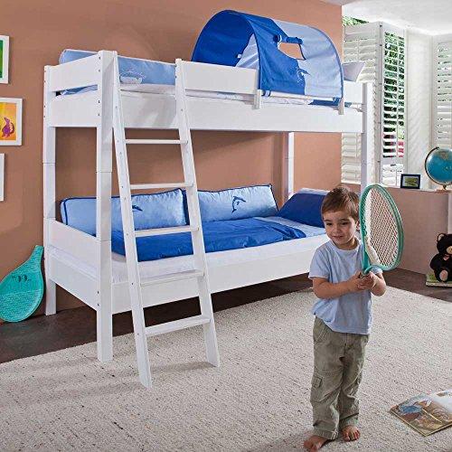 Pharao24 Kinder-Etagenbett Mina mit schräger Leiter