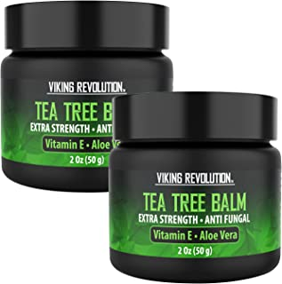 Tea Tree Oil Antifungal Cream- Super Balm Athletes Foot Cream- Perfect Treatment for Eczema, Jock Itch, Ringworm, and Nail Fungus Infections- Also Soothes Itchy, Scaly and Cracked Skin (2 Pack)