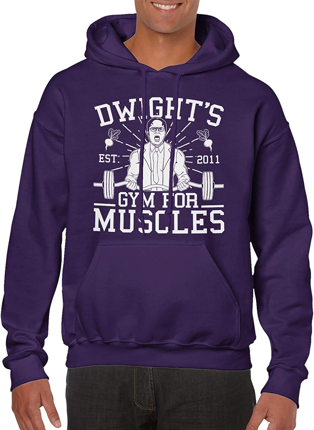 SpiritForged Apparel Dwight's 2021 autumn and winter new Gym for Muscles outlet Swea Unisex Hooded