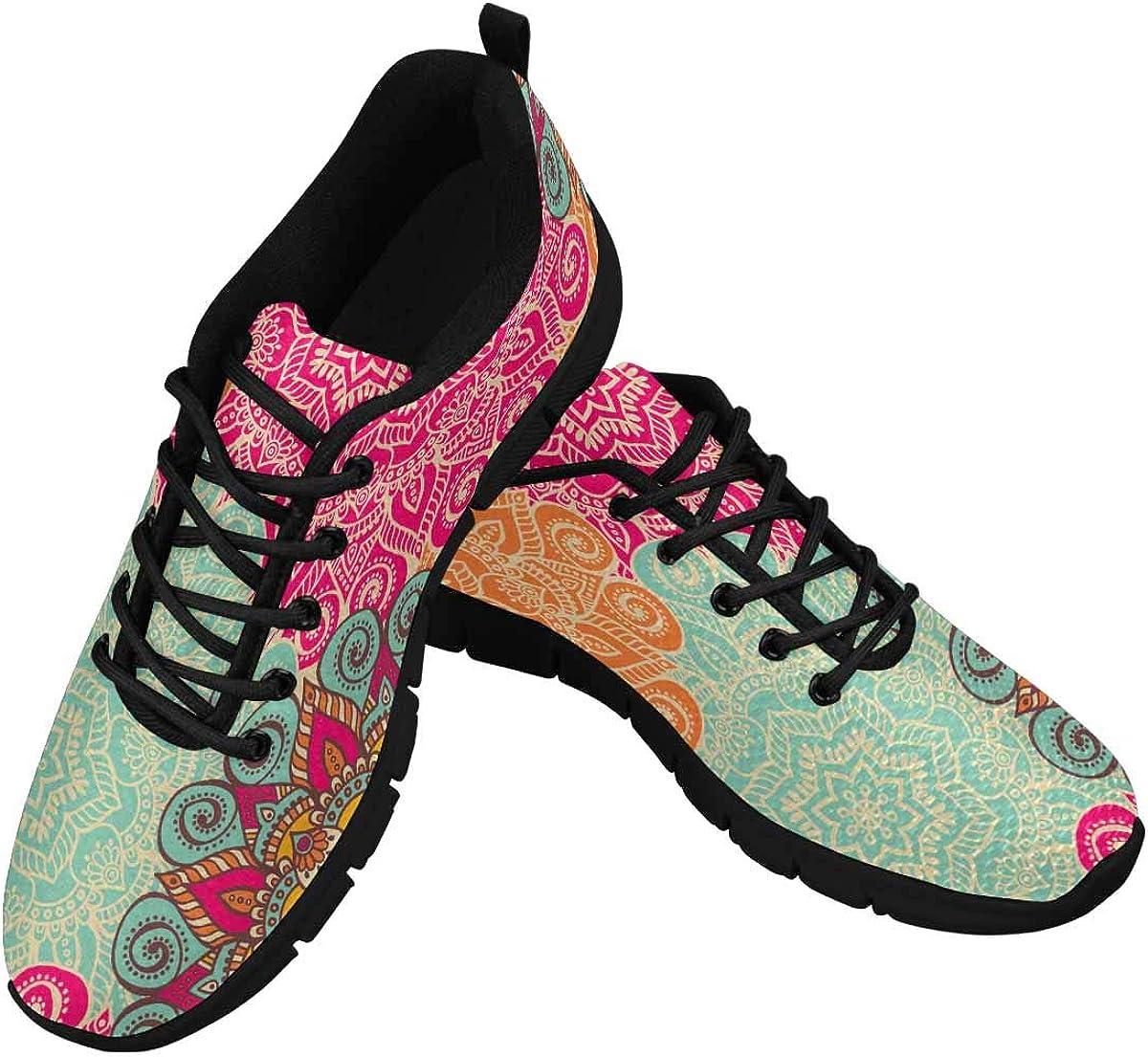 InterestPrint Ottoman Motifs Women Walking Shoes Comfortable Lightweight Work Casual Travel Sneakers