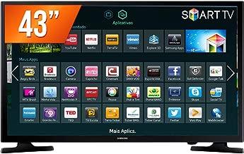 """Smart TV LED 43"""", Samsung, UN43J5200AGXZD, Preto"""