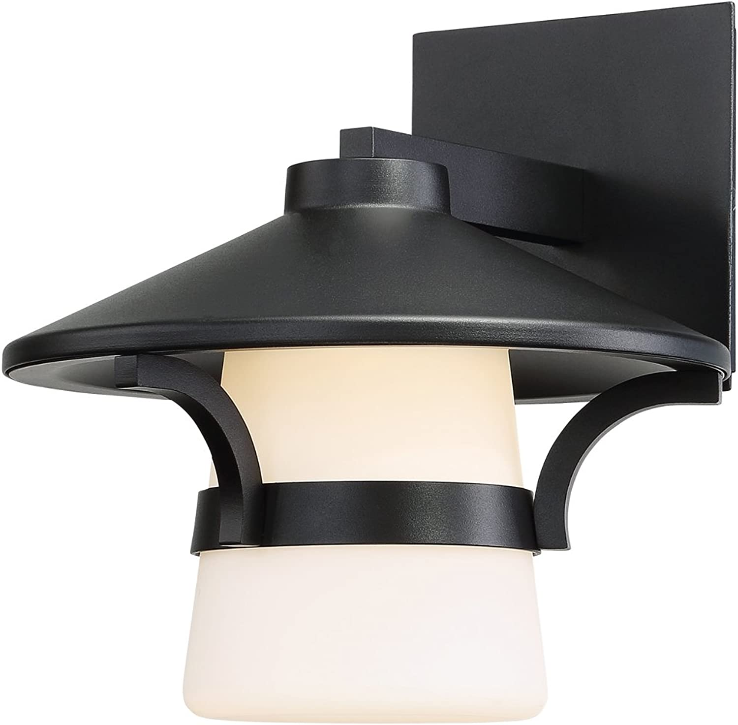 WAC Lighting WS-W48709-BK Abode 9  LED Outdoor Wall Light in Black 9 Inches