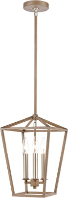Elk Lighting 57224/3 Pendant, Light Wood, Satin Nickel