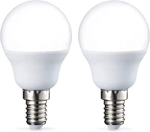 Amazon Basics Petite ampoule LED E14 P45 type globe, avec culot à vis, 5.5W (équivalent ampoule incandescente de 40W)...