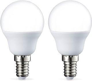Amazon Basics Petite ampoule LED E14 P45 type globe, avec culot à vis, 5.5W (équivalent ampoule incandescente de 40W), bla...