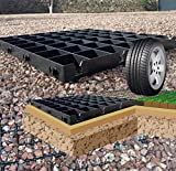 ECOTATOU 12 GRILLES = 3m2 PARKING/ALLEE CARROSSABLE/BASE - DALLES STABILISATRICES DE GRAVIER EN PLASTIQUE RECYCLE.