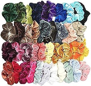 Fankle 40 Pcs Hair Scrunchies Velvet Elastic Hair Bands Hair Ties Ropes Scrunchie for Women or Girls Hair Accessories - 40...