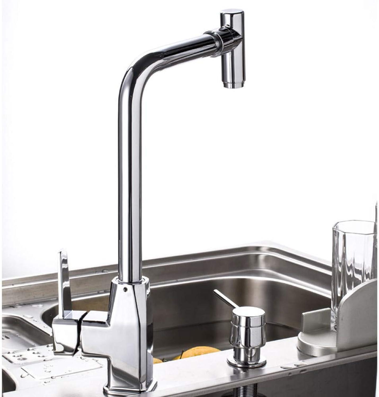 VIOYO Wasserhahn Wasserhahn Chrom poliert Keramik Spüle Mischbatterie mit Einhebel hei kalt Spüle Küchenarmatur, Küchenarmatur