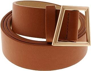 Lovoski Womens Dress Belt Genuine Leather Waist Belt Adjustable Waistband Mens Strap Clothing Accessories