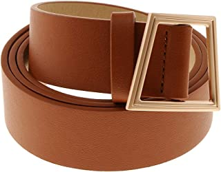 Lovoski Womens Dress Belt Genuine Leather Waist Belt Adjustable Waistband Mens Strap Clothing Accessories