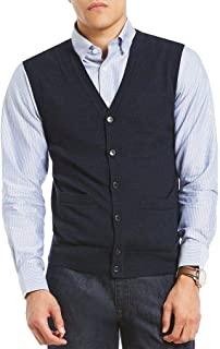 Cardigan Sweater Vest Navy Blue in Medium and Large