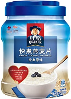???Quaker????? ???? ?? ?? ??? 1000? ?? ?????????? Quaker Breakfast Cereal Dietary Fiber Quick-boiled Quick-cooked Oatmeal 1000g Canned (Random Delivery of Old and New Packages)