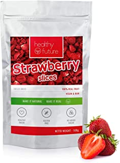 Fresas liofilizadas 100% naturales, sin gluten, sin azú