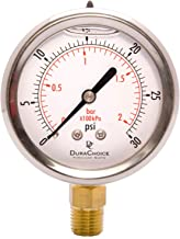 Best 0-30 psi water pressure gauge Reviews