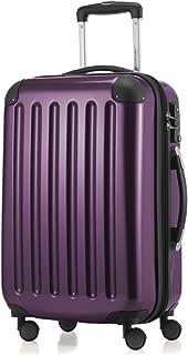 small purple suitcase